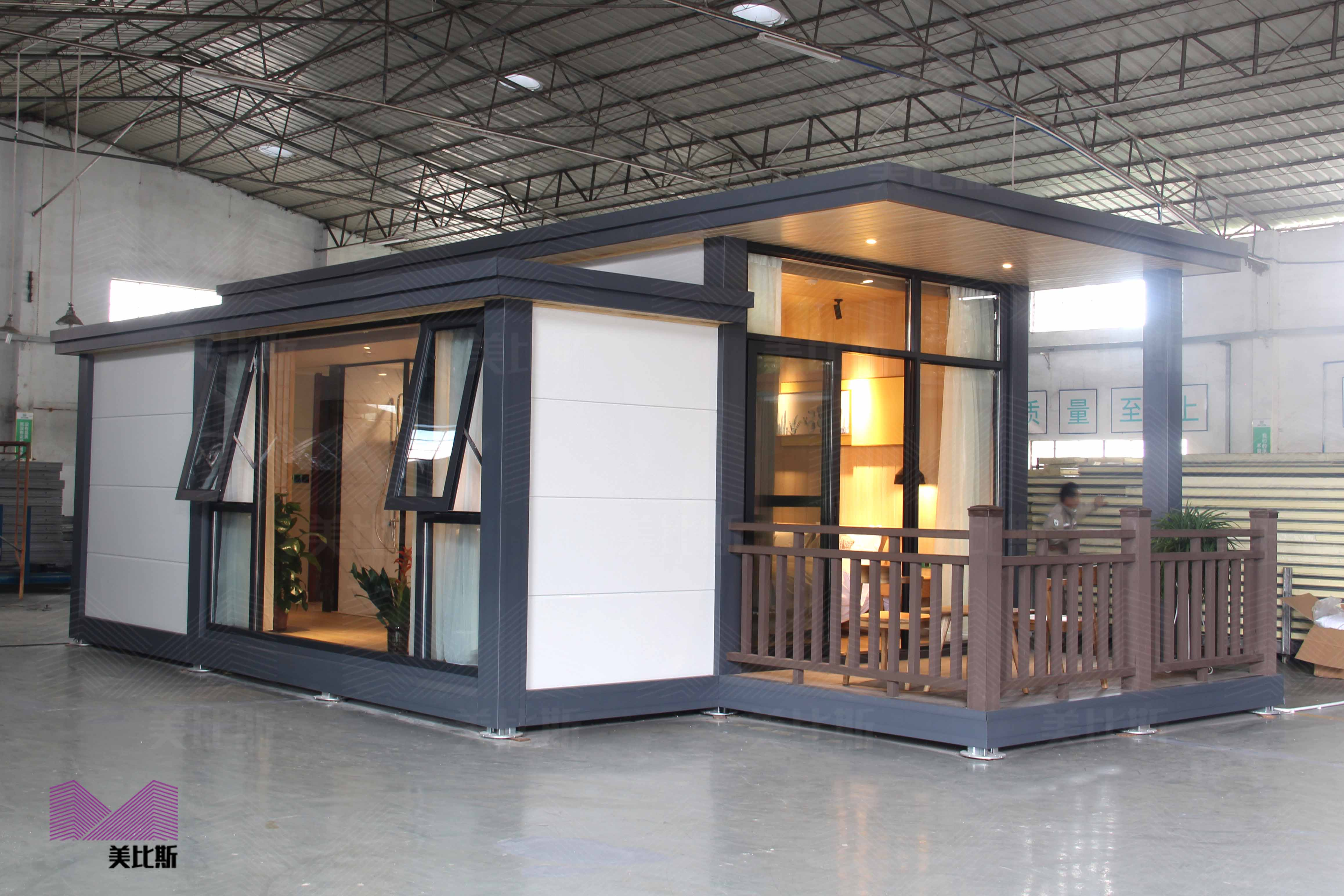 M-B-10 Luxury couple bedroom detachable light steel prefab house 豪华型双人房别墅