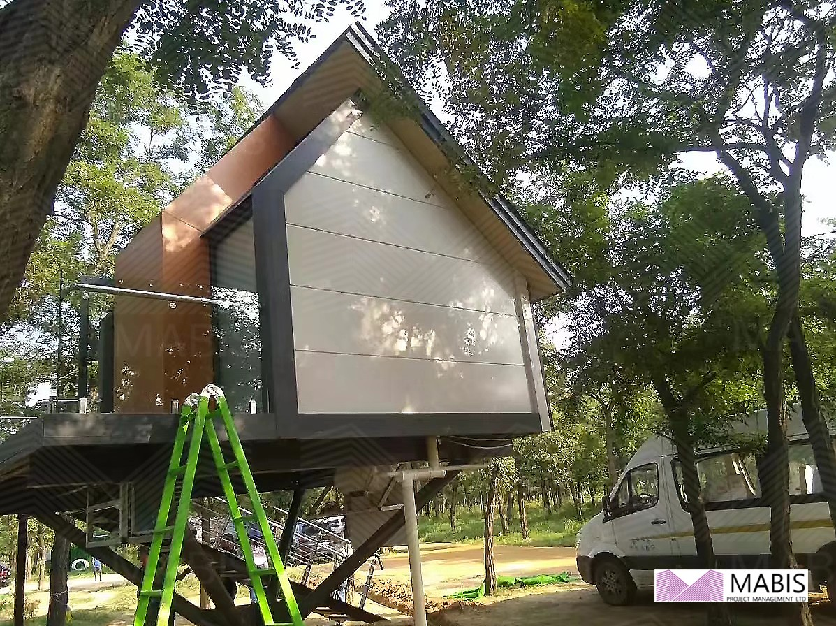 M-B-T1 New design tiny house luxury prefab hotel couple room 新款树屋别墅